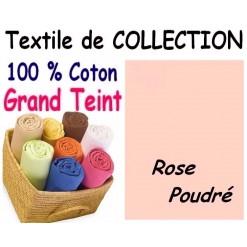 DRAP HOUSSE bébé 80x120 cm GRAND TEINT / ROSE POUDRE