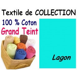 DRAP HOUSSE bébé 80x120 cm GRAND TEINT / LAGON