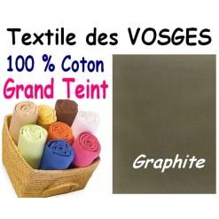 DRAP HOUSSE bébé 80x120 cm GRAND TEINT / GRAPHITE