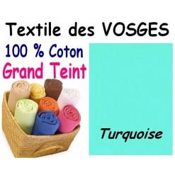 DRAP HOUSSE bébé 80x120 cm GRAND TEINT / TURQUOISE