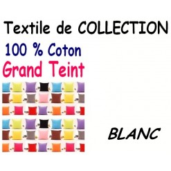 TAIE OREILLER 60x90 cm GRAND TEINT / BLANC