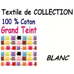 TAIE OREILLER 60x70 cm GRAND TEINT / BLANC