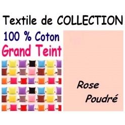 TAIE OREILLER 60x70 cm GRAND TEINT / ROSE POUDRE