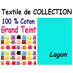TAIE OREILLER 60x70 cm GRAND TEINT / LAGON
