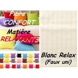 TAIE OREILLER 50x80 FIBRE CONFORT 71 fils/cm / BLANC RELAX