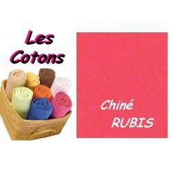 DRAP HOUSSE bébé 60x90 cm pour BERCEAU / Chiné RUBIS
