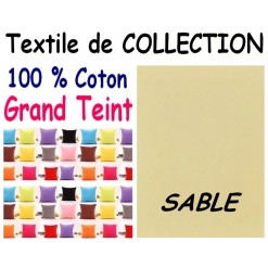 LA TAIE OREILLER 40x60 cm GRAND TEINT / SABLE