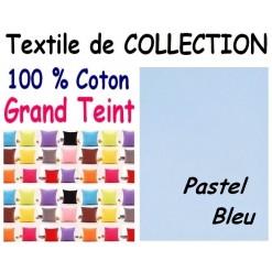 LA TAIE OREILLER 40x60 cm GRAND TEINT / PASTEL BLEU