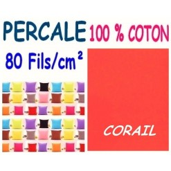 LA TAIE OREILLER 40x60 cm PERCALE / CORAIL