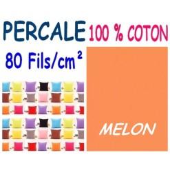 LA TAIE OREILLER 40x60 cm PERCALE / MELON