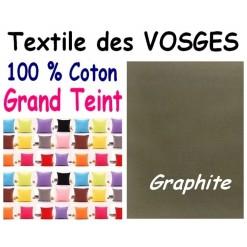 LA TAIE OREILLER 40x60 cm GRAND TEINT / GRAPHITE