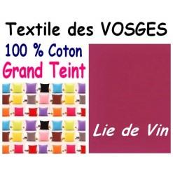 LA TAIE OREILLER 40x60 cm GRAND TEINT / LIE DE VIN