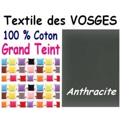 LA TAIE OREILLER 40x60 cm GRAND TEINT / ANTHRACITE