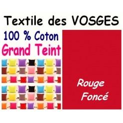 LA TAIE OREILLER 40x60 cm GRAND TEINT / ROUGE Foncé