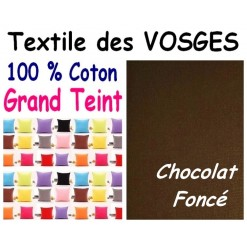 LA TAIE OREILLER 40x60 cm GRAND TEINT / CHOCOLAT
